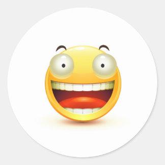 Emoticon Round Stickers