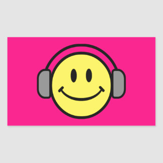 Emoticon With Headphones Stickers