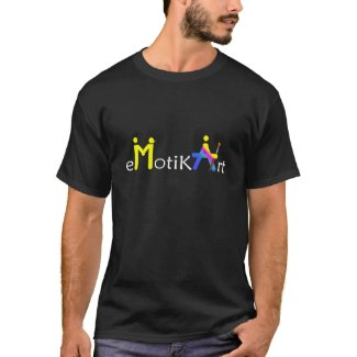 eMotikART - T-shirt man short sleeves black ART