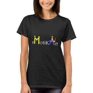 eMotikART - T-shirt woman short sleeves black ART