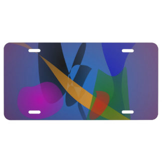 Emotion Abstract Art License Plate