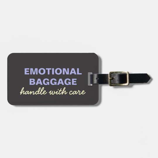 Emotional Baggage: Handle With Care- Purple Yellow Luggage
