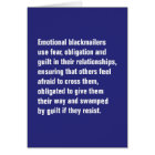 Emotional Blackmailers Use Fear, Obligation … Card