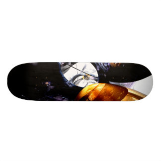 Emotional Scars Abstract Skateboard