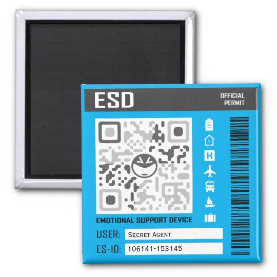 Emotional Support Device Blue Magnet