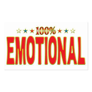 Emotional Tar Tag Pack Of Standard Business Cards