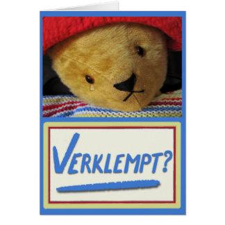 Emotional Teddy Card