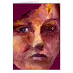 Emotional Woman's Face Greeting Card