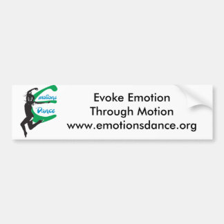 Emotions Dance Bumper sticker