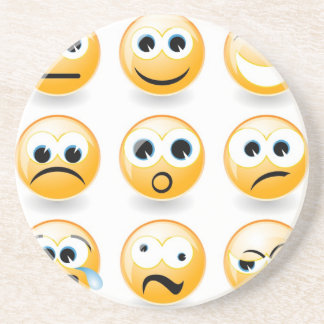 Emotions for every day drink coaster