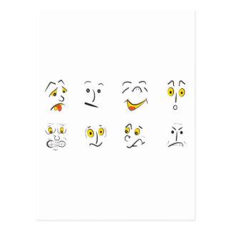 emotions postcard