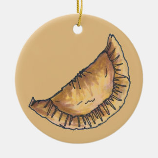 Empanadas Latin South American Fried Cheese Pastry Christmas Ornament
