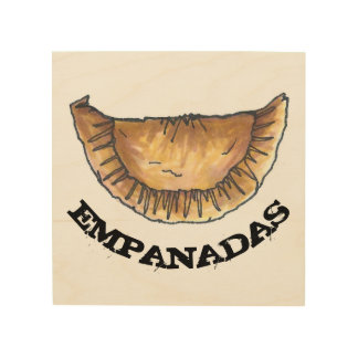 Empanadas Latin South American Spanish Food Pastry Wood Wall Art