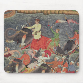 Emperor Akbar crossing the River Ganges Mouse Pads