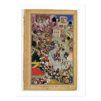 Emperor Akbar (r.1556-1605) shoots Saimal at the S Postcards