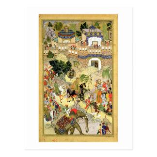 Emperor Akbar's triumphant entry into Surat, from Postcard
