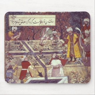 Emperor Babur and his architect plan Mouse Mat