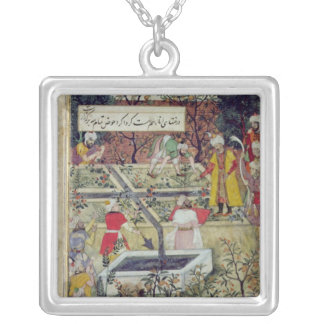 Emperor Babur Silver Plated Necklace