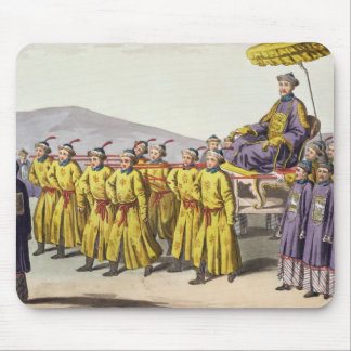 Emperor Ch'ien Lung carried in Triumph, plate 18 f Mouse Pad