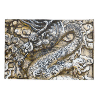 Emperor Dragon Stone Watercolor Fantasy Art Pillowcase