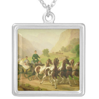 Emperor Franz Joseph I of Austria Silver Plated Necklace