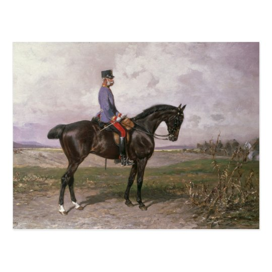 Emperor Franz Joseph I on his Austrian horse Postcard
