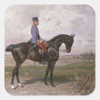 Emperor Franz Joseph I on his Austrian horse Square Sticker