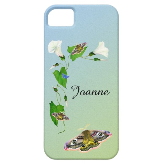 Emperor Hawk Moth Morning Glory Flower iPhone Case