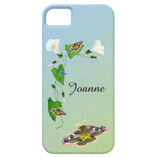 Emperor Hawk Moth Morning Glory Flower iPhone Case