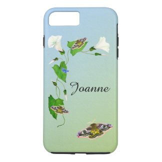 Emperor Hawk Moth Morning Glory Flower Watercolors iPhone 8 Plus/7 Plus Case