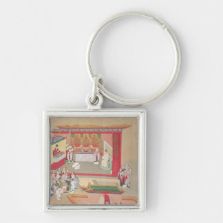 Emperor Hui Tsung  practising with the Buddhist Key Ring