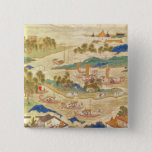 Emperor Hui Tsung  transporting pierced stones 15 Cm Square Badge