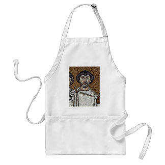 Emperor Justinian And His Court, And Bishop Maxim Standard Apron