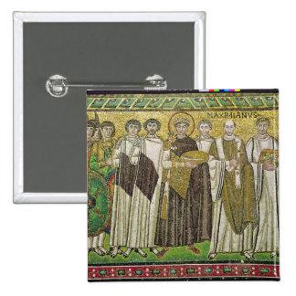 Emperor Justinian I 15 Cm Square Badge