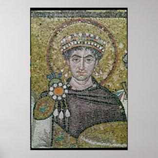 Emperor Justinian I  c.547 AD Poster