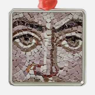 Emperor Justinian I  c.547 AD Silver-Colored Square Decoration