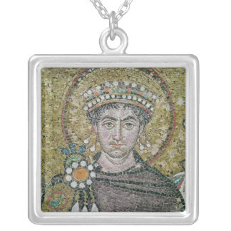 Emperor Justinian I  c.547 AD Silver Plated Necklace