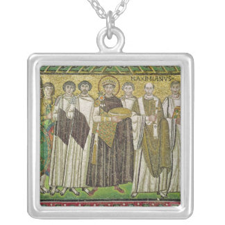 Emperor Justinian I Silver Plated Necklace