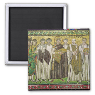 Emperor Justinian I Square Magnet