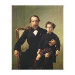 Emperor Louis-Napoleon Bonaparte  and his son Canvas Print