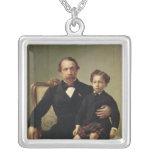 Emperor Louis-Napoleon Bonaparte  and his son Silver Plated Necklace