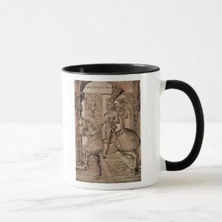 Emperor Maximilian I riding a horse, 1518 Mug
