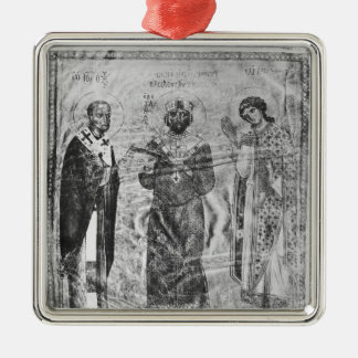Emperor Nicephorus III Botaniates Silver-Colored Square Decoration