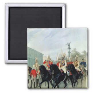 Emperor Nicholas I  and Grand Duke Alexander Square Magnet