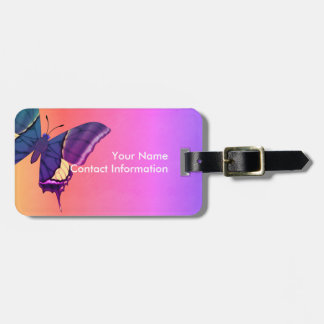 Emperor of India Butterfly Bag Tag
