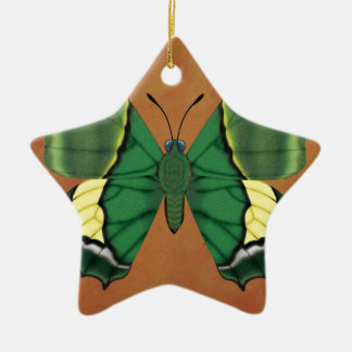 Emperor of India Butterfly Ceramic Star Decoration