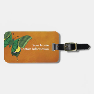 Emperor of India Butterfly Luggage Tag