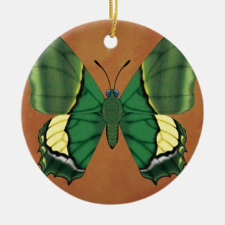 Emperor of India Butterfly Round Ceramic Decoration