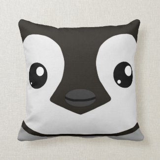 Emperor Penguin Chick Pillow