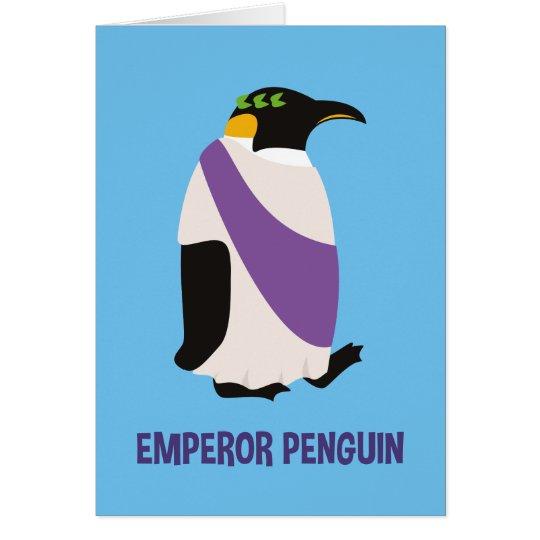 Emperor Penguin Christmas Card